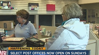 Select post offices now open on Sundays