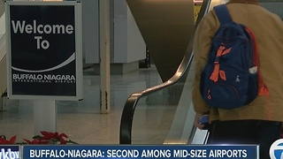 A JD Power survey on airport satisfaction for 2016 ranks the Buffalo-Niagara International Airport second among medium sized airports in North America - Video