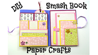 DIY scrapbook tutorial: How to make a smash book - Video