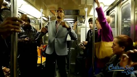 Throwing a DJ dance party on the New York Subway