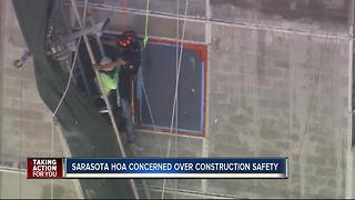 Sarasota HOA concerned over construction safety - Video