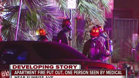 5 displaced after Sunrise Ave apartment fire