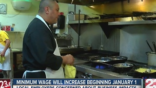 Local businesses concerned about minimum wage bump - Video