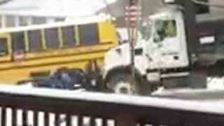 Woman Speaks After Recording Video Of Snow Plow Crash - Video