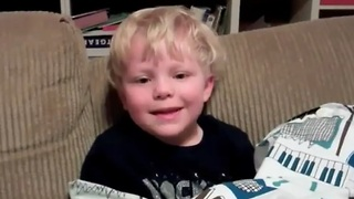 3-year-old tells terrible knock-knock jokes - Video