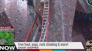 Free food, yoga, rock climbing and more at this weekend event - Video
