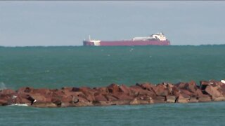 1,000-foot barge quarantines at Port Milwaukee after crew members test positive for COVID-19