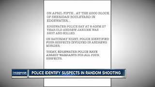 Edgewater Police identify four suspects in murder