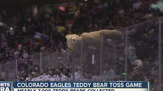 Colorado Eagles Teddy Bear Toss - Video