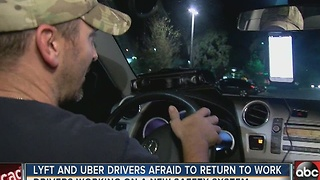 Lyft and Uber drivers afraid to return to work