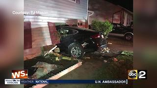 Teen lucky to be alive after car crashed into home - Video