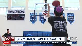 Las Vegas boy makes amazing basketball shot - Video