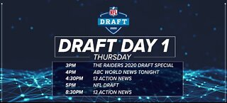 NFL Draft lineup for day 1