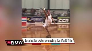 Local roller skater competing for World Title - Video