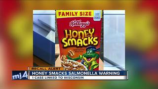 """Wisconsin resident sick from salmonella outbreak linked to Kellogg's """"Honey Smacks"""" cereal"""