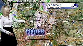 Temperatures drop 10 to 15 degrees for Wednesday - Video