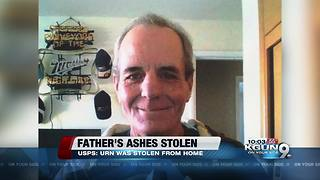 Father's ashes stolen after being delivered to daughter's home - Video