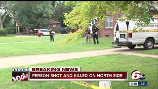 Person shot and killed on north side - Video