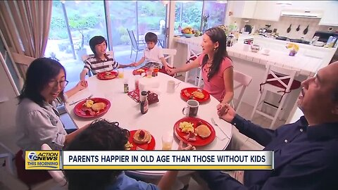 Parents happier in old age than those without kids