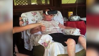 Grandma Tries Virtual Reality For The First Time - Video