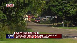 Romulus police telling people to avoid area Wayne and Wick roads