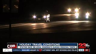 Holiday travel conditions