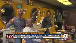 Sweet P's barber shop going strong after 43 years - Video