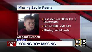 Peoria police seek public's help in locating missing boy - Video