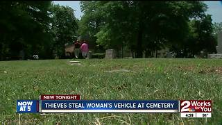 Thieves steal grieving widow's car - Video