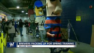 Milwaukee Brewers pack up for Spring training - Video