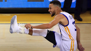 Steph Curry Drains EASY 3 and High Steps to Debut 'Curry 4' Shoes in Game 1 of NBA Finals - Video