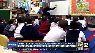 Baltimore Co. schools consider opening on Jewish holidays - Video