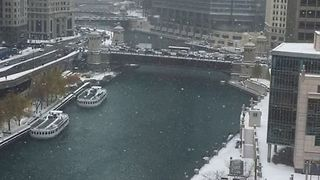Fall Snow Blankets Chicago - Video