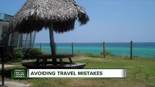 Avoiding travel mistakes