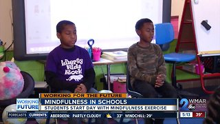 Baltimore students start the day with mindful exercises