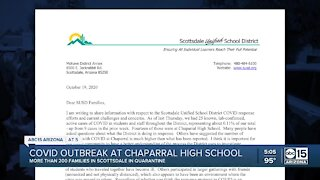 COVID outbreak at Chaparral High School
