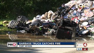 Fort Myers garbage truck fire