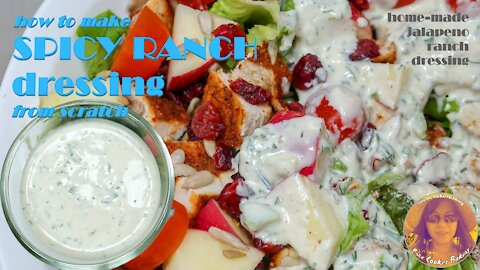 How To Make Spicy Ranch Dressing From Scratch | Spicy Jalapeno Ranch | Home Made Ranch Dressing
