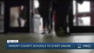 Hendry County Schools will start online
