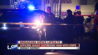 Police: Officer shoots man with knife in Midway District apartment