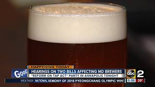 Lawmakers to hold hearings on bills affecting local brewers - Video