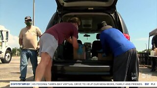Tampa Bay families thankful for Feeding Tampa Bay Mega Pantries amid COVID-19 pandemic