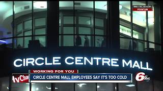Circle Centre Mall customers, workers forced to bundle up - Video
