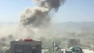 Huge Smoke Cloud Rises Over Kabul Following Bomb Attack - Video