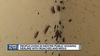 Mother and children battle cockroach infestation in Inkster public housing