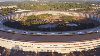 Drone Footage Shows Progress on Landscaping Around the Apple Campus - Video