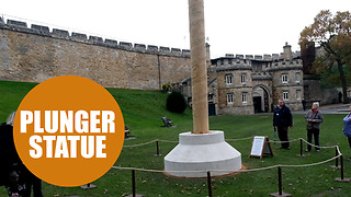 New monument makes uncanny resemblance to a giant TOILET PLUNGER - Video
