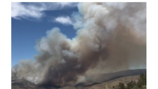Plume of Smoke Billows From Agua Dulce Brush Fire - Video