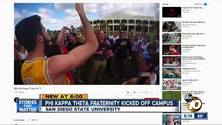 Phi Kappa Theta fraternity kicked off San Diego State University - Video