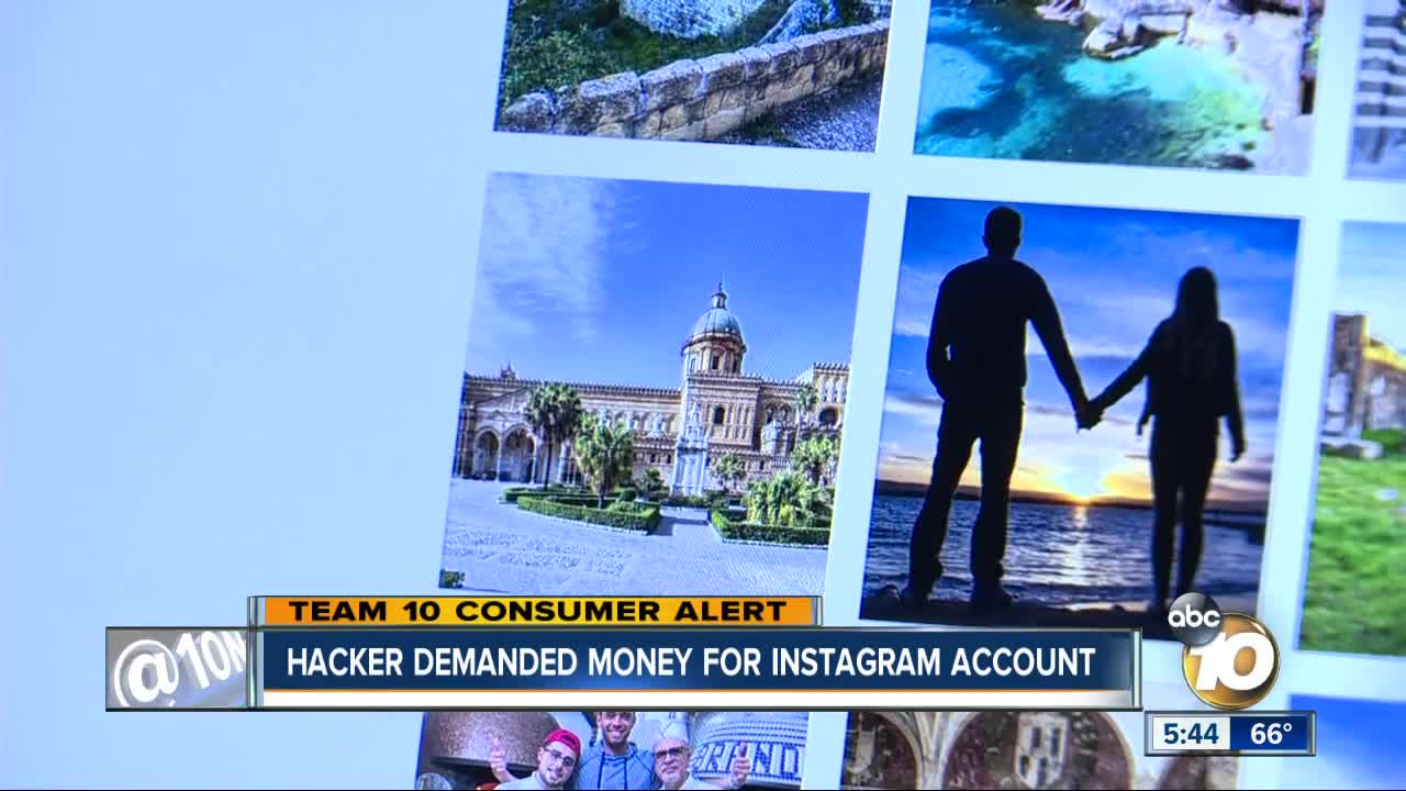 Hacker demanded money for Instagram account